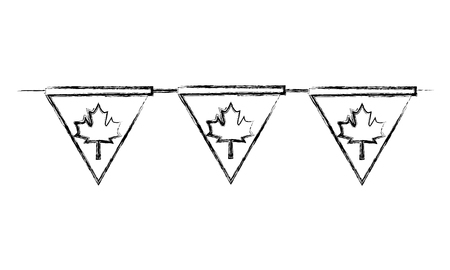 pennant decoration canada day flag vector illustration Illustration