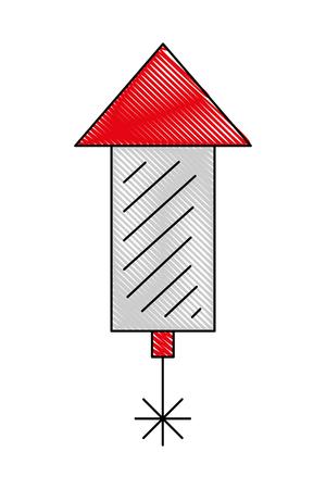 carnival firework of celebration canadian vector illustration design Illustration