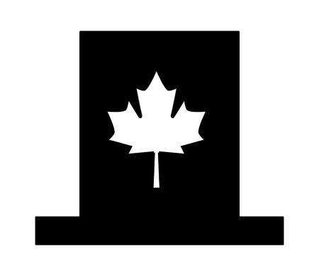canadian celebration hat isolated icon vector illustration design