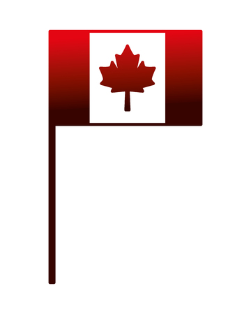 canada day canadian flag in stand vector illustration neon