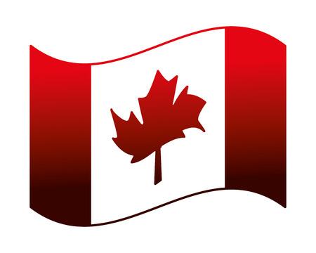 fête du canada drapeau canadien symbole national illustration vectorielle néon