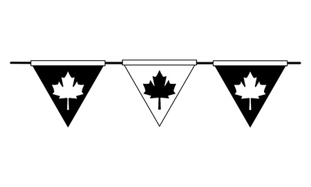 garland hanging of celebration canadian vector illustration design
