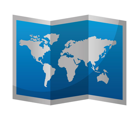 world paper map icon vector illustration design 写真素材 - 103046702