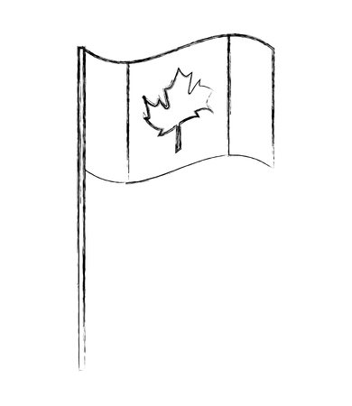 canada day canadian flag in stand vector illustration