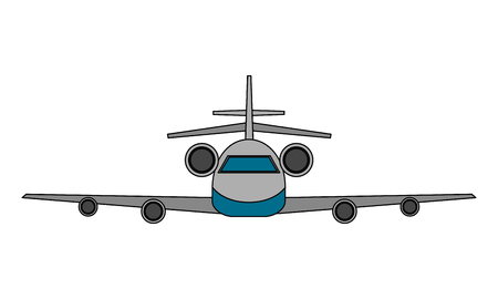 airplane transport commercial travel image vector illustration
