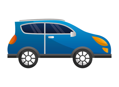 sedan car isolated icon vector illustration design  イラスト・ベクター素材
