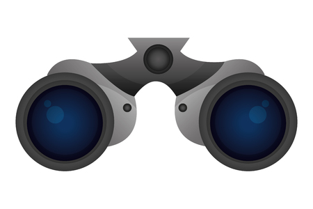 binoculars device isolated icon vector illustration design Stock Illustratie