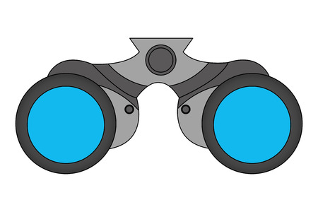 binoculars object equipment optical icon vector illustration