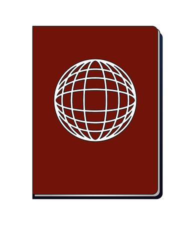 Pasaporte documento pasaporte viaje turística ilustración vectorial Foto de archivo - 103046483