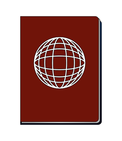 passport document id travel tourist vector illustration