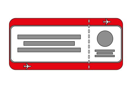 air ticket boarding pass travel vector illustration Stock Vector - 103046485