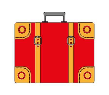 travel classic suitcase vacations equipment vector illustration Banco de Imagens - 103046542