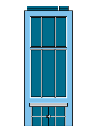 building hotel luxury skyscraper business vector illustration Ilustração