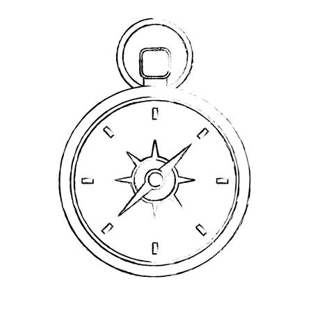 Reise Kompass Ausrüstung Instrument Bild Vektor-Illustration Standard-Bild - 103046668