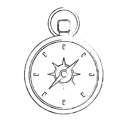 travel compass equipment instrument image vector illustration
