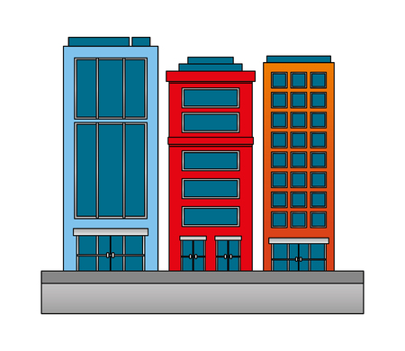 city hotel building town tourism travel vector illustration