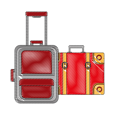 suitcases travel tourism icon vector illustration design