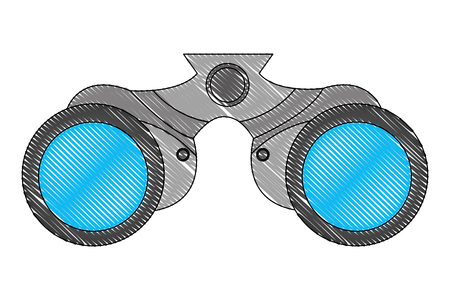 binoculars device isolated icon vector illustration design Vettoriali