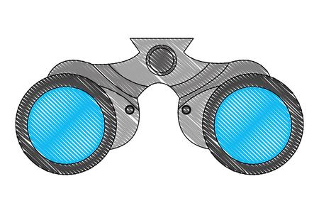 binoculars device isolated icon vector illustration design Vectores