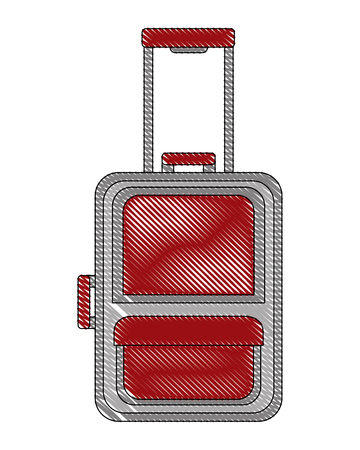 suitcase travel tourism icon vector illustration design Banco de Imagens - 103047058