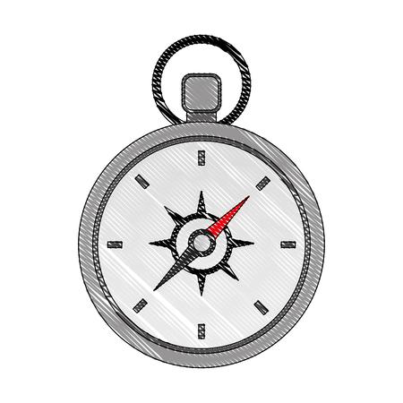 compass guide device icon vector illustration design