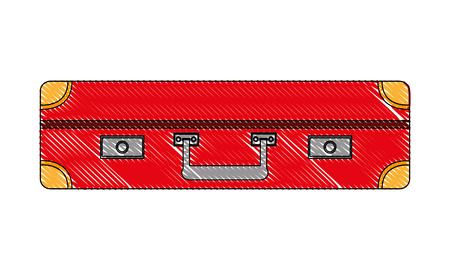 suitcase travel tourism icon vector illustration design