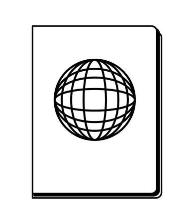 Pasaporte documento pasaporte viaje turística ilustración vectorial Foto de archivo - 103046971