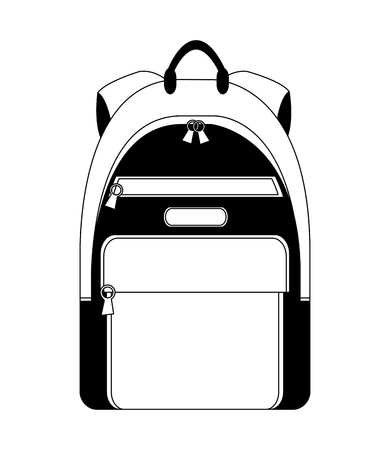 backpack accessory fashion travel icon vector illustration