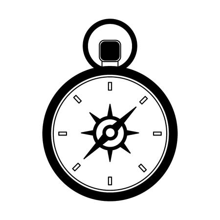 travel compass equipment instrument image vector illustration