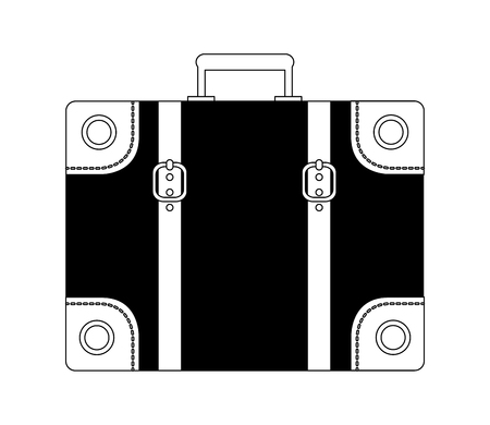 travel classic suitcase vacations equipment vector illustration