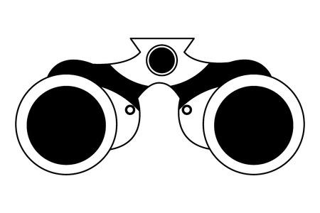 binoculars object equipment optical icon vector illustration