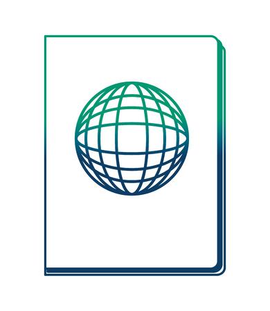 Documento de pasaporte aislado icono de ilustración vectorial de diseño Foto de archivo - 103047070