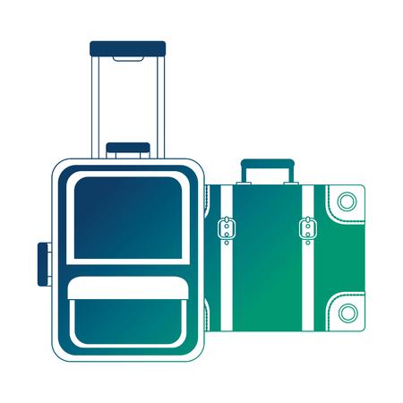 suitcases travel tourism icon vector illustration design