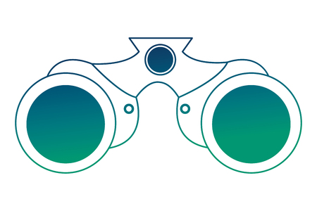 binoculars device isolated icon vector illustration design Vectores