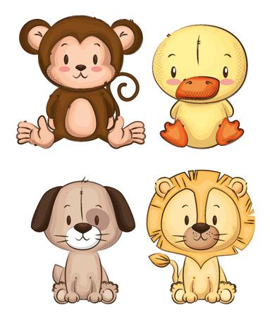 little and cute animals group vector illustration design Foto de archivo - 103068764