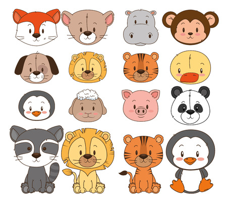 little and cute animals group vector illustration design Фото со стока - 103068769