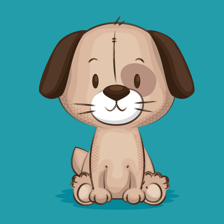 little cute dog character vector illustration design Vectores