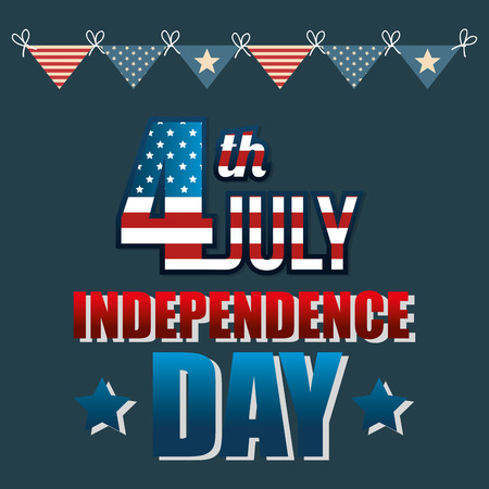 USA independence day poster vector illustration design Archivio Fotografico - 103173302
