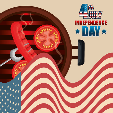 USA independence day barbeque party vector illustration design Archivio Fotografico - 103127821