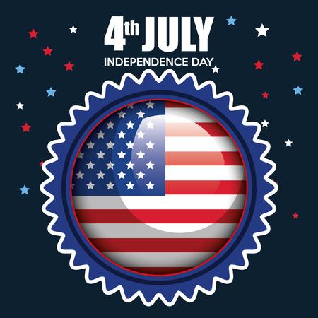 USA independence day seal stamp vector illustration design Archivio Fotografico - 103127837