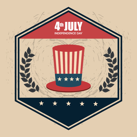 hat USA independence day celebration vector illustration design Archivio Fotografico - 103128558
