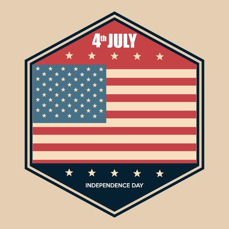 USA independence day emblem celebration vector illustration design Archivio Fotografico - 103128562
