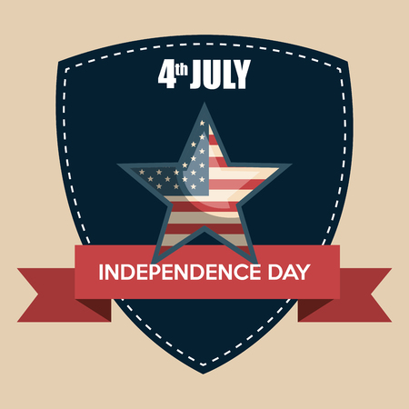 USA independence day star vector illustration design