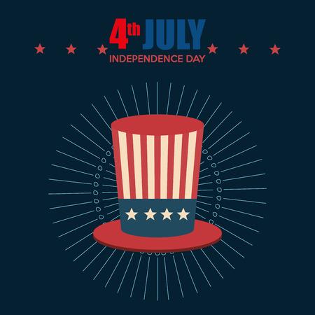 hat USA independence day celebration vector illustration design Archivio Fotografico - 103128578