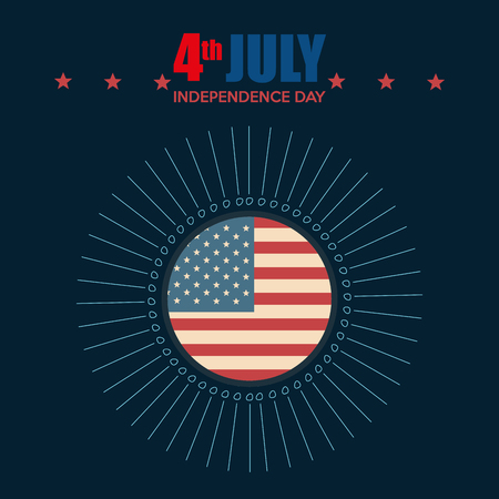 USA independence day with flag vector illustration design Archivio Fotografico - 103128580