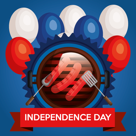 USA independence day barbeque party vector illustration design Archivio Fotografico - 103128592