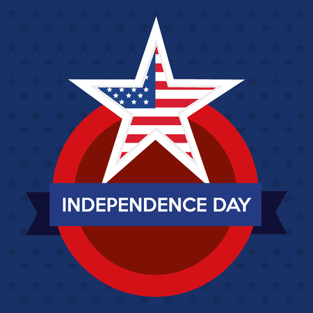 USA independence day star vector illustration design