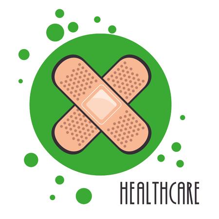 medical bandage healthcare icon vector illustration design