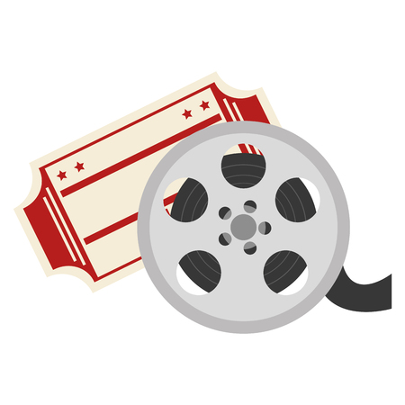 video reel with cinema ticket vector illustration design