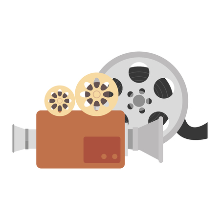 video reel with camera vector illustration design
